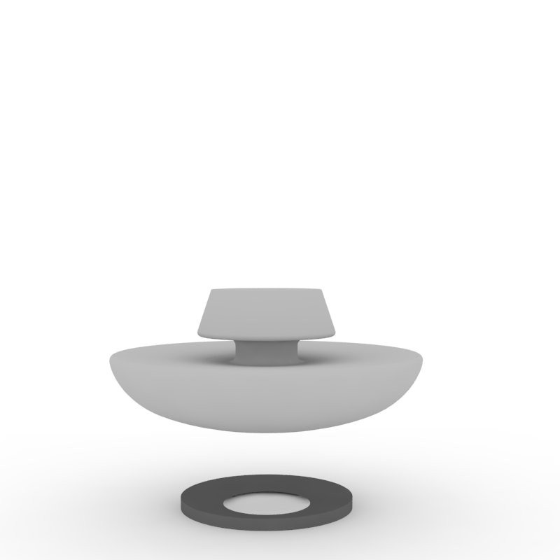 This polyurethane ring prevents the rocking of the Chit Chat. Ideal in a hospital or a home for the elderly. Designed to accommodate those with reduced mobility.