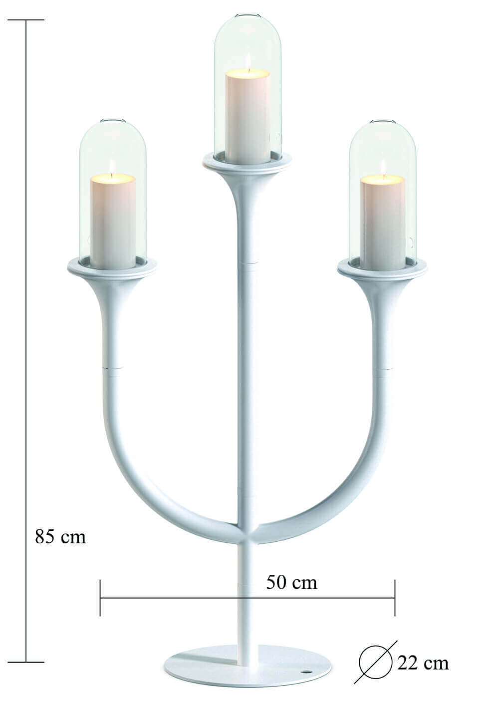 RiZZ Candelabra trio white sizes Teun Fleskens