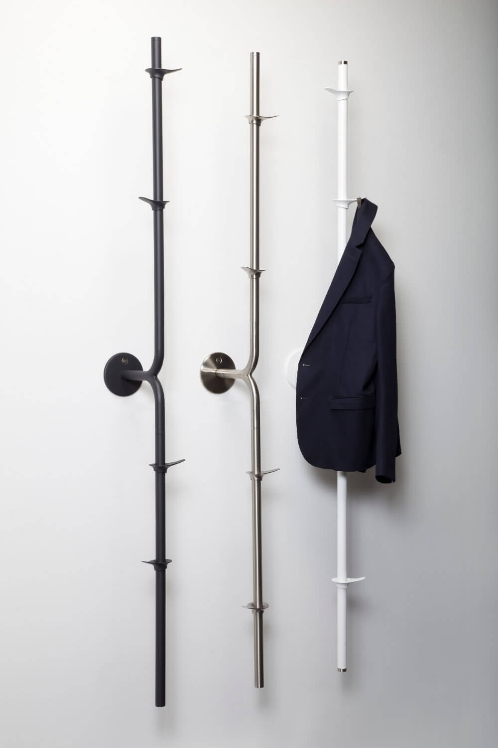 Fixed coat rack the split stainless steel anthracite white Teun Fleskens