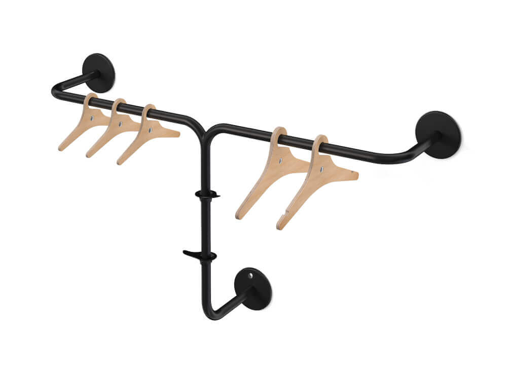 RiZZ fixed coat rack the tripod anthracite Teun Fleskens