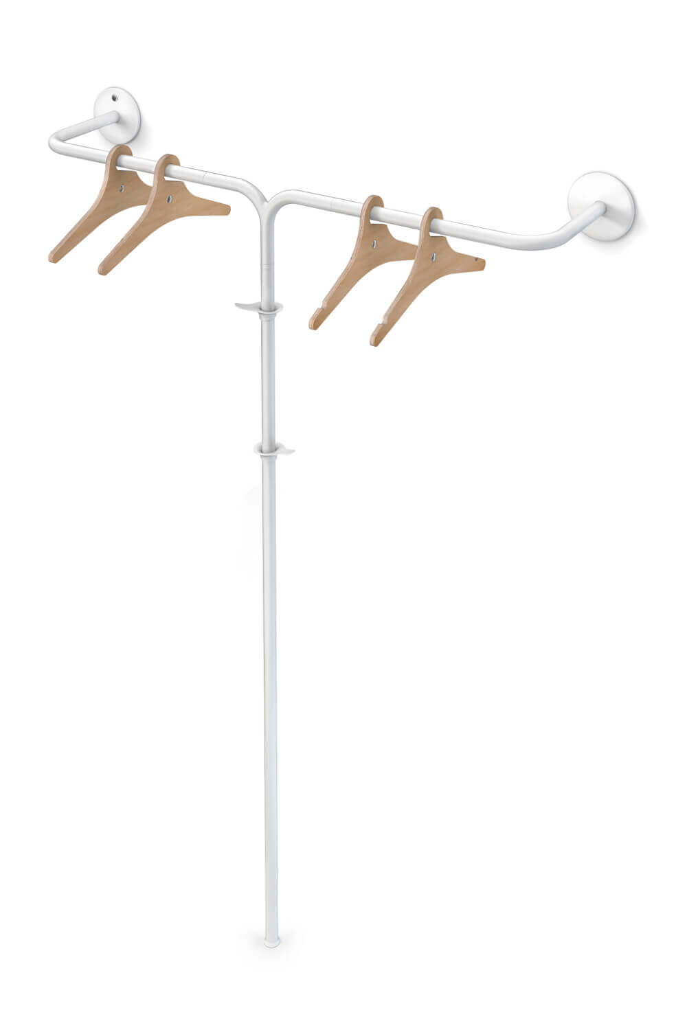 Fixed coat rack hybrid vine 4 white Teun Fleskens
