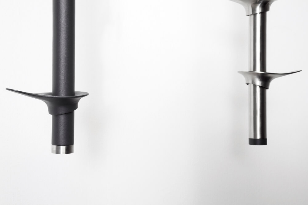 Fixed coat rack top down anthracite stainless steel  Teun Fleskens