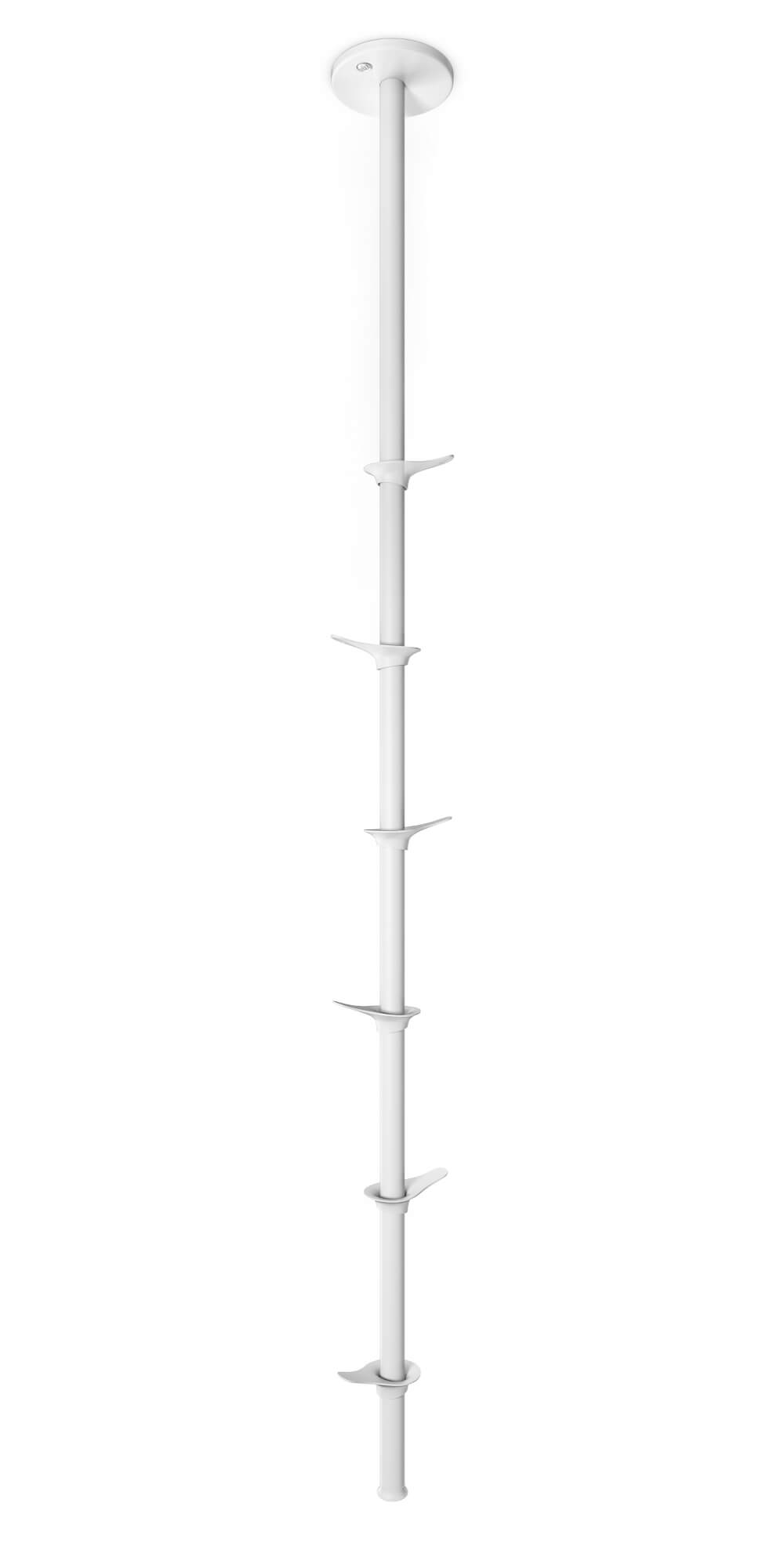 Fixed coat rack top down white Teun Fleskens