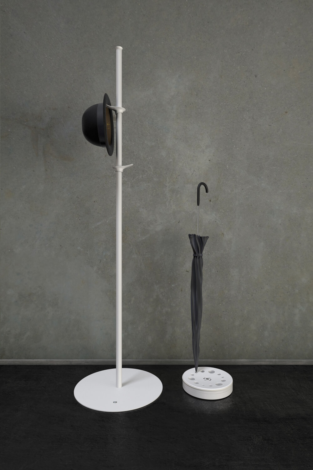 RiZZ Free standing coat stand pine white Teun Fleskens