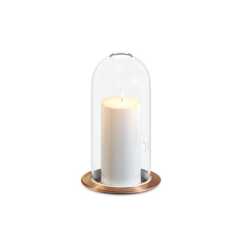 Candle stand table model dish   dome copper Teun Fleskens