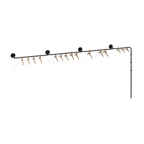 Fixed coat rack hybrid vine 5 anthracite Teun Fleskens
