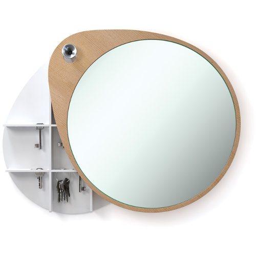 RiZZ mirror the egg cedar with key cupboard the cabinet Teun Fleskens